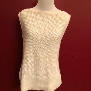 Banana Republic Sleeveless Cream Sweater